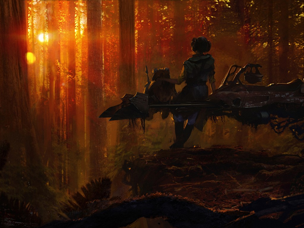 Star Wars Wallpaper: Endor Sunset (by Morgan Yon)