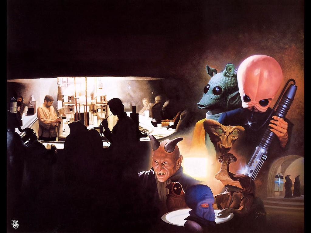 Star Wars Wallpaper: Mos Eisley Cantina