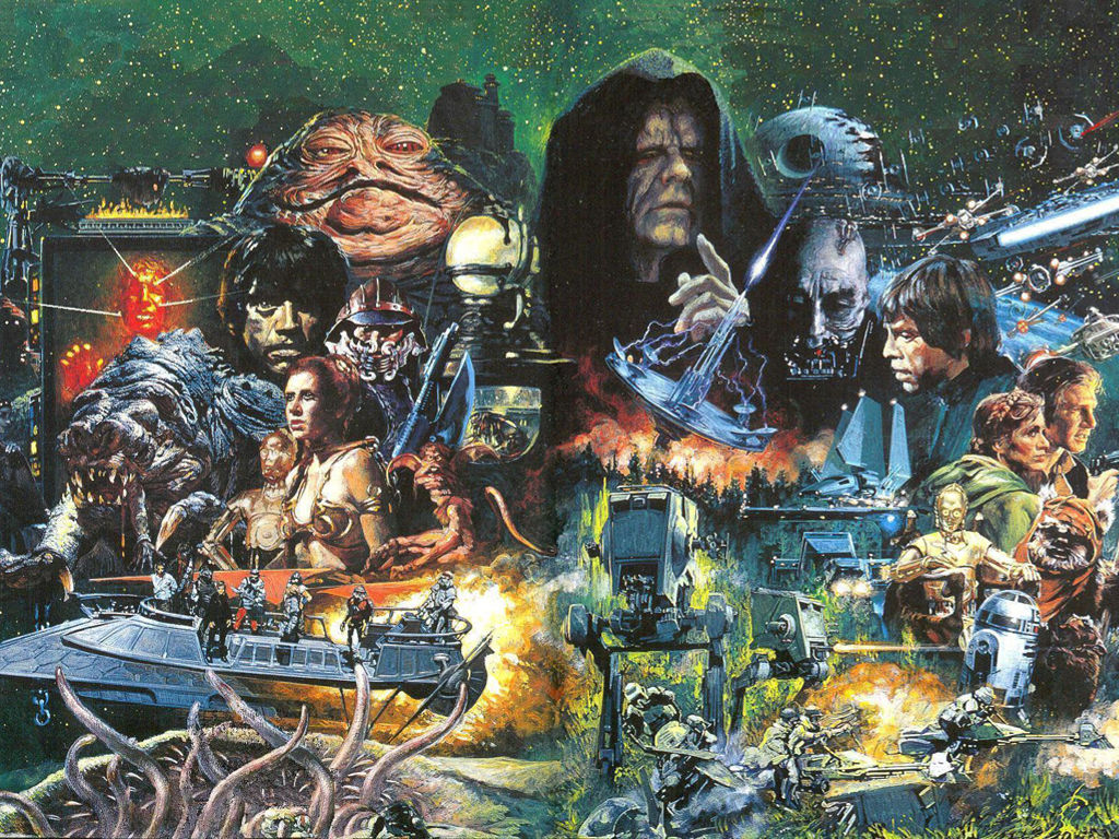 Star Wars Wallpaper: Noriyoshi Ohrai - Return of the Jedi
