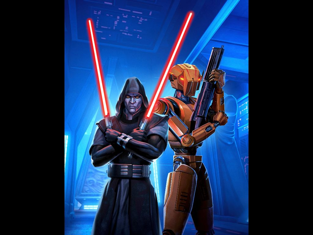 Star Wars Wallpaper: Old Republic - Sith Lord and HK-47