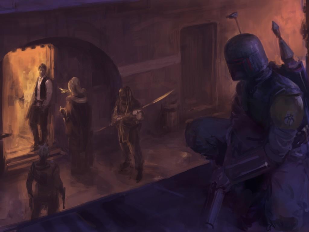 Star Wars Wallpaper: Bounty Hunter (by Paul Dainton)