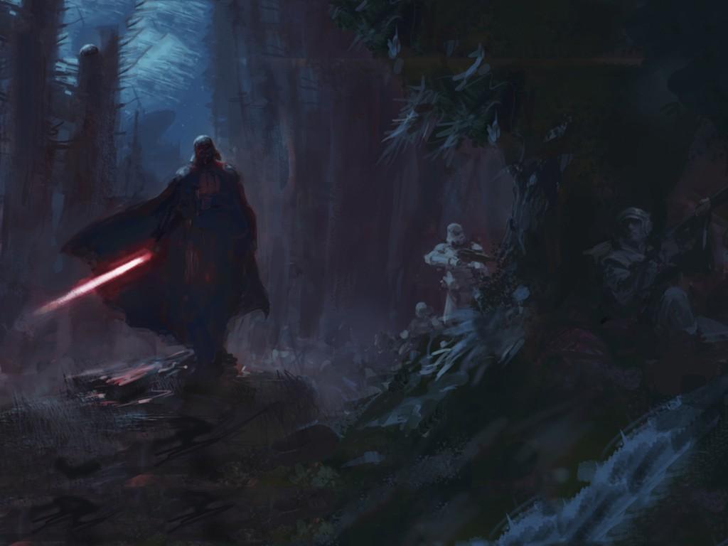 Star Wars Wallpaper: Darth Vader (by Paul Dainton)