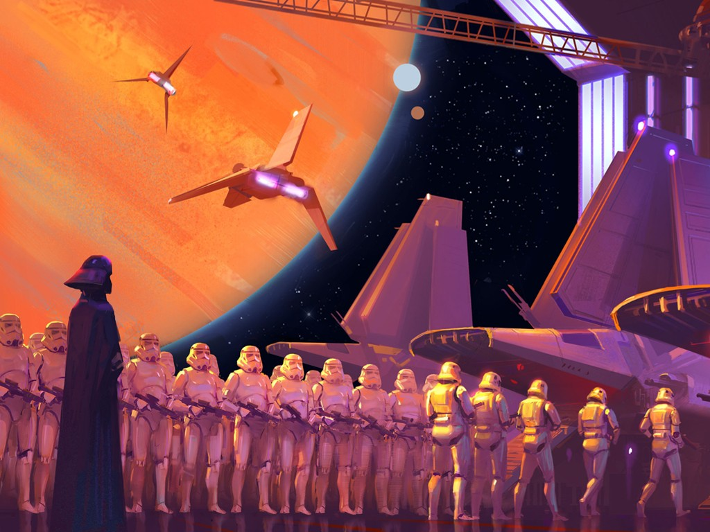 Star Wars Wallpaper: Vader and Stormtroopers