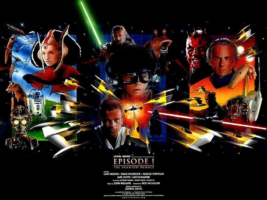 Star Wars Wallpaper: Phantom Menace - Art Collage