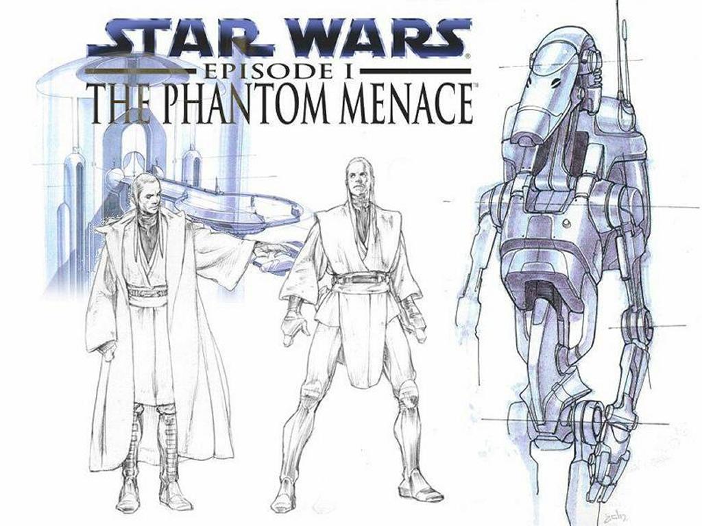 Star Wars Wallpaper: Phantom Menace - Sketches