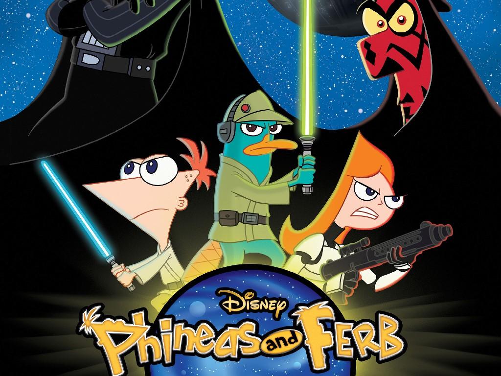 Papel de Parede Gratuito de Guerra nas Estrelas : Phineas & Ferb - Star Wars