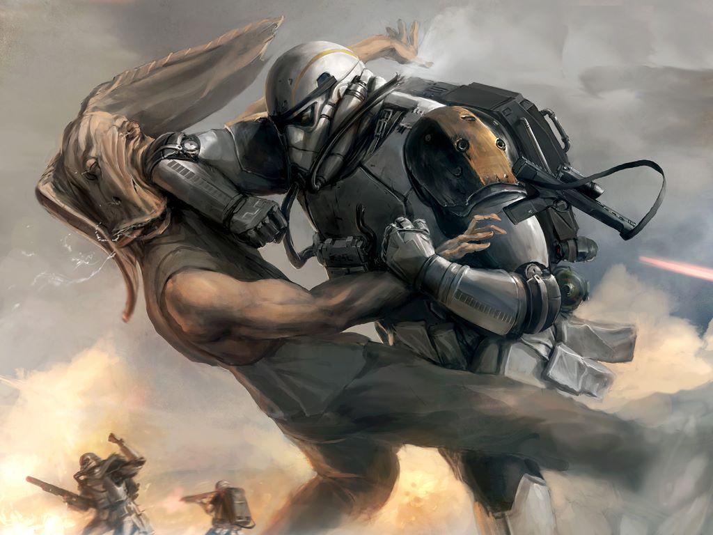 Star Wars Wallpaper: Punching