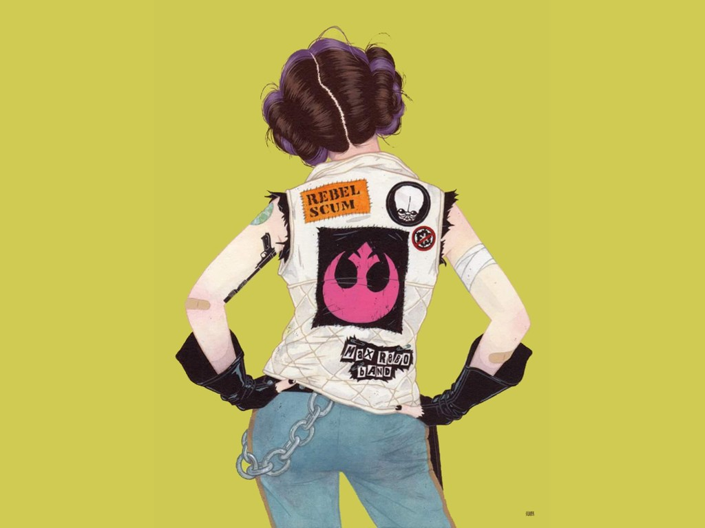 Star Wars Wallpaper: Punk Leia - Rebel Scum