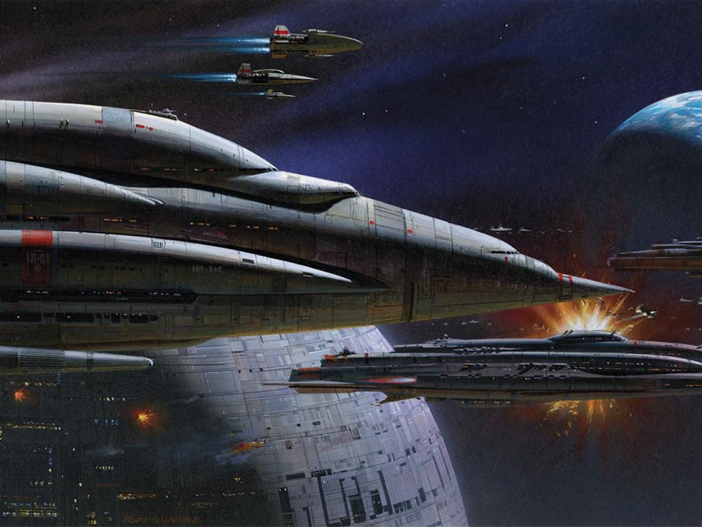 Star Wars Wallpaper: Ralph McQuarrie - Battle of Endor