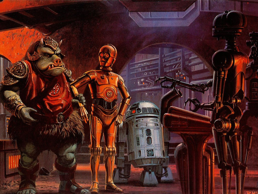 Star Wars Wallpaper: Ralph McQuarrie - Droids