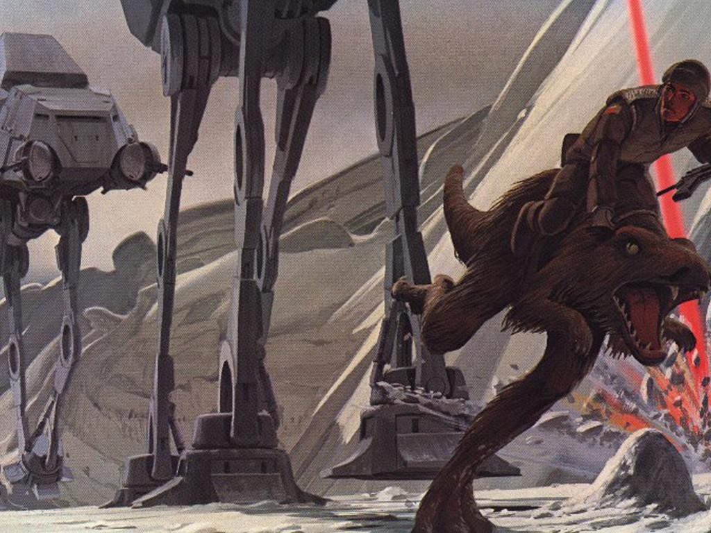 Star Wars Wallpaper: Ralph McQuarrie - Battle of Hoth