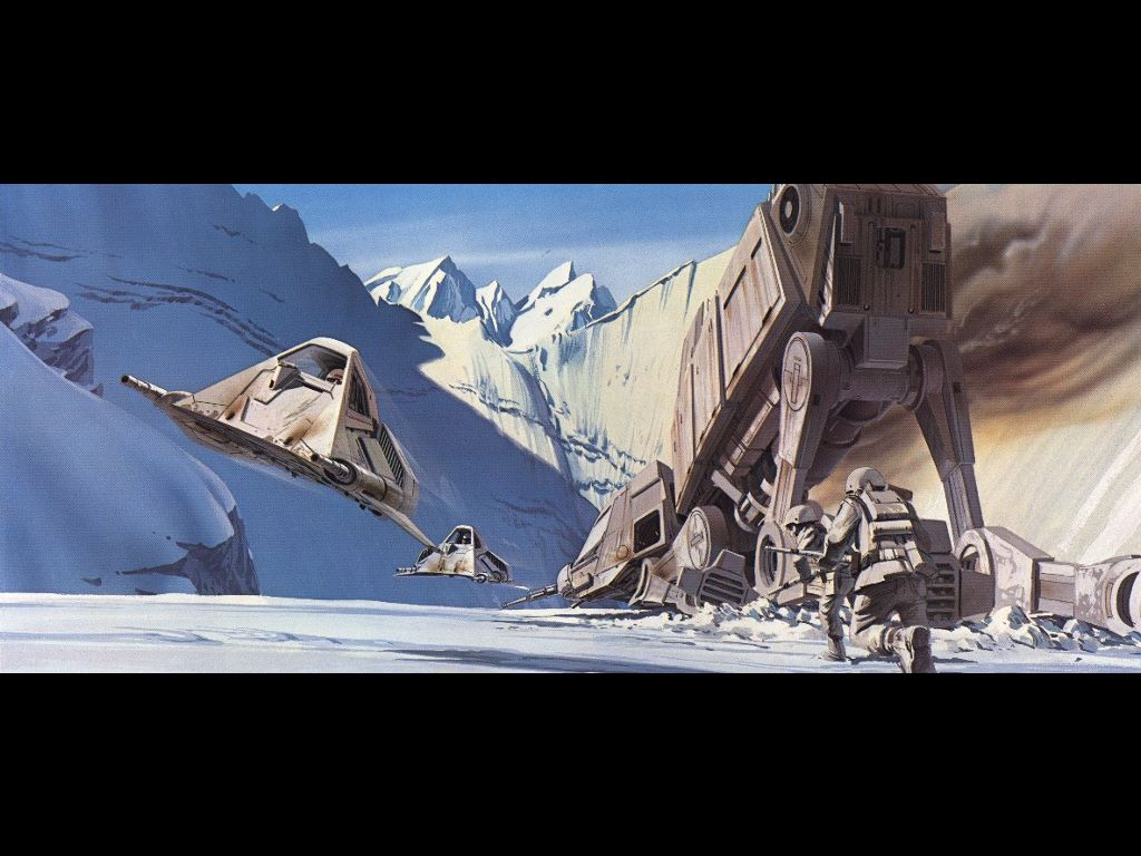 Star Wars Wallpaper: Ralph Mcquarrie - Empire Strikes Back (Battle of Hoth)