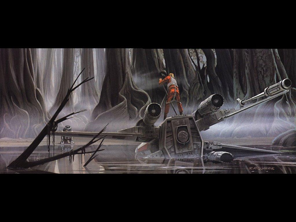 Star Wars Wallpaper: Ralph McQuarrie - Empire Strikes Back - Dagobah