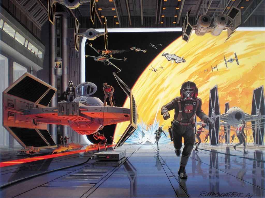 Star Wars Wallpaper: Ralph McQuarrie - Imperial Hangar
