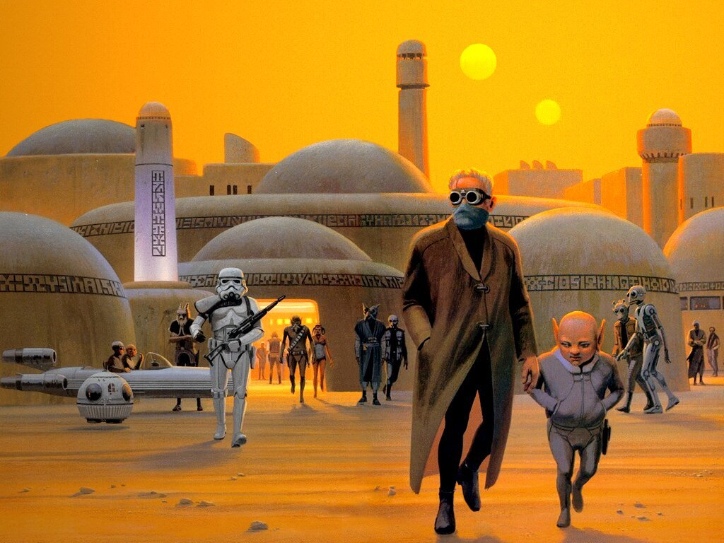 Star Wars Wallpaper: Ralph McQuarrie - Mos Eisley