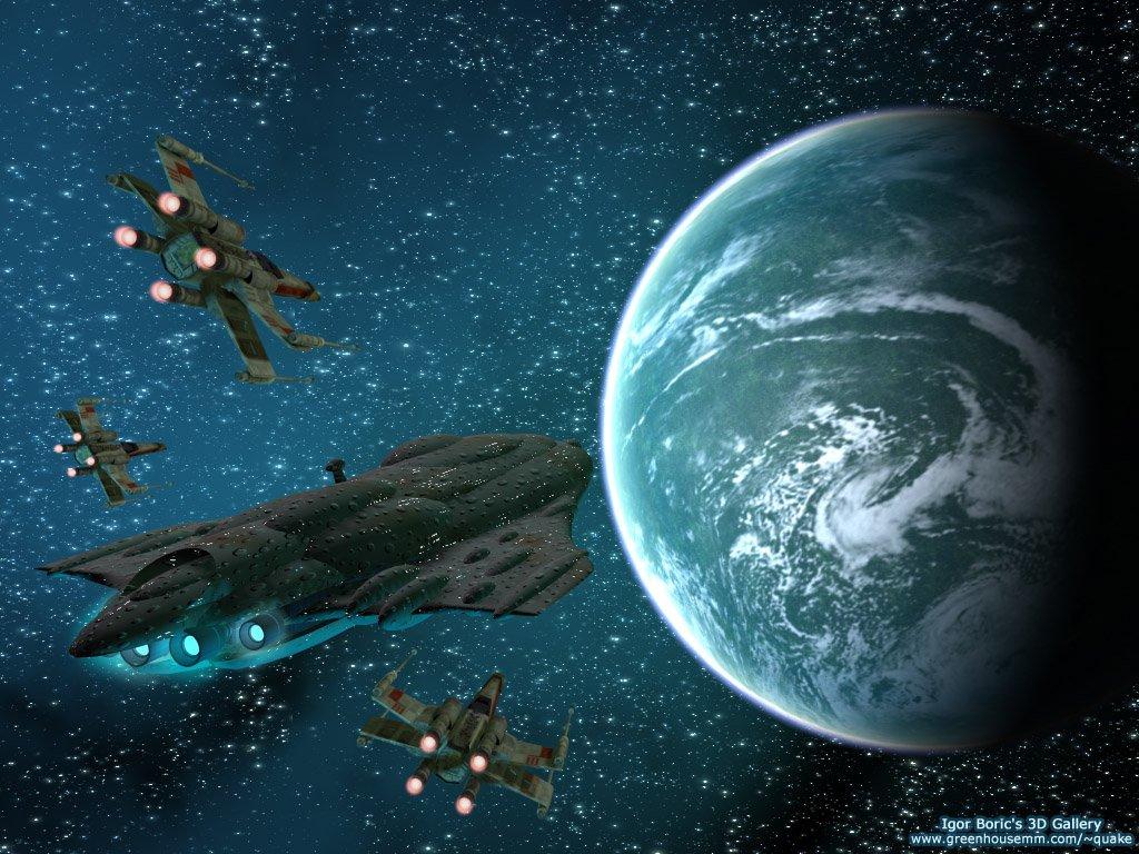 Star Wars Wallpaper: Rebel Cruiser
