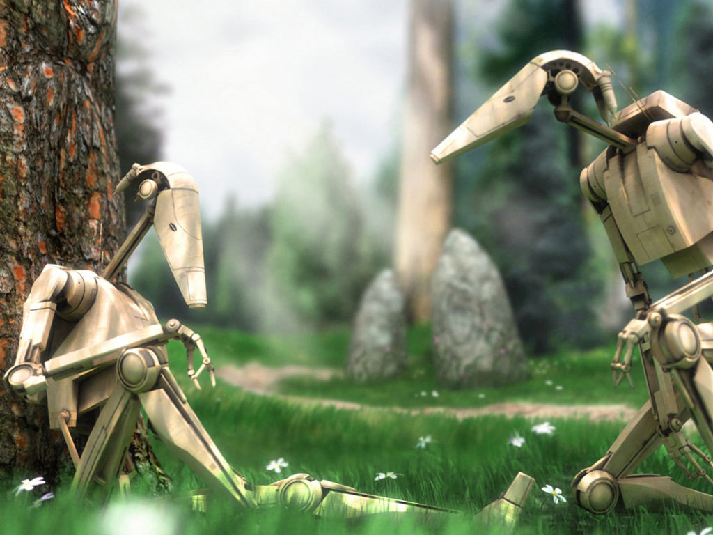 Star Wars Wallpaper: Droids - Relaxing