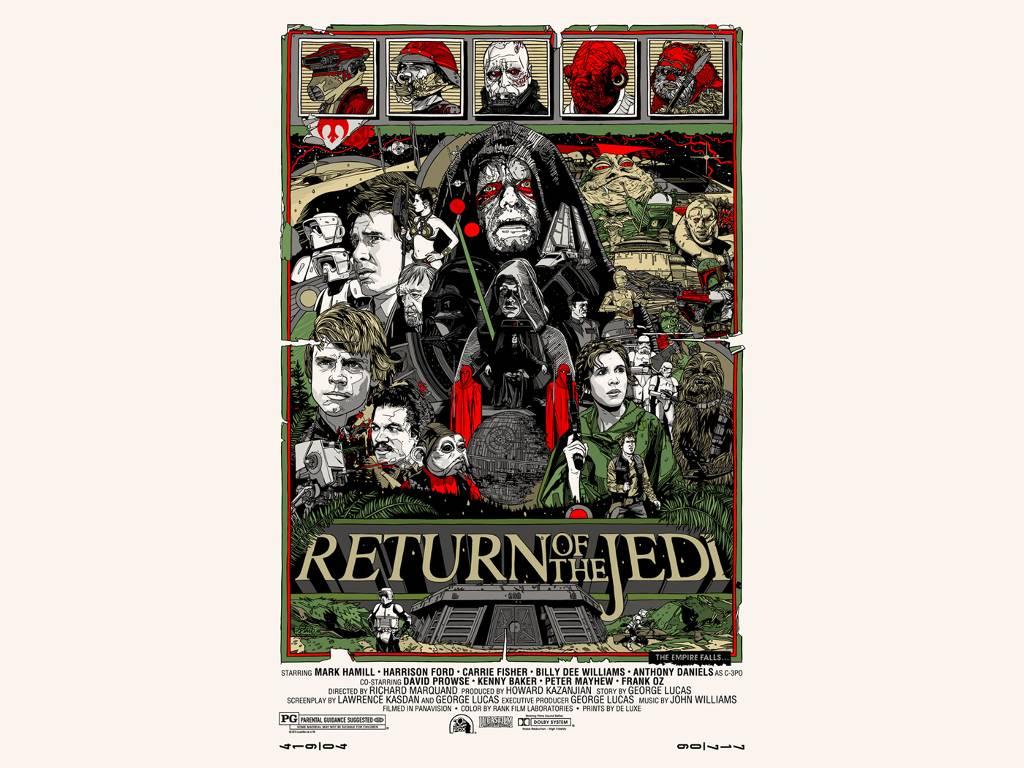 Star Wars Wallpaper: Star Wars - Return of the Jedi (Alt Poster)