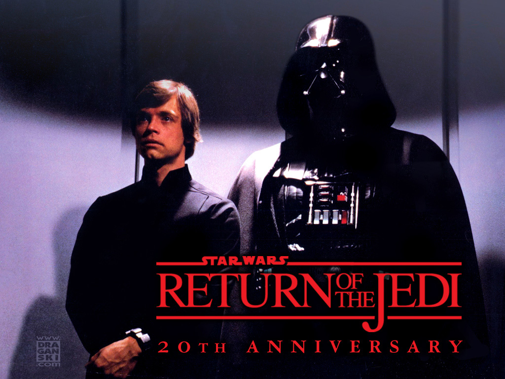 Star Wars Wallpaper: Return of the Jedi - Vader and Luke