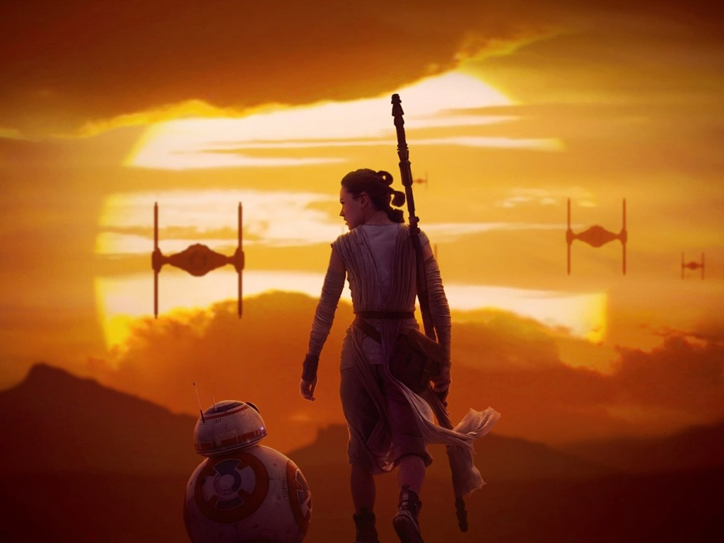 Star Wars Wallpaper: Rey and BB-8