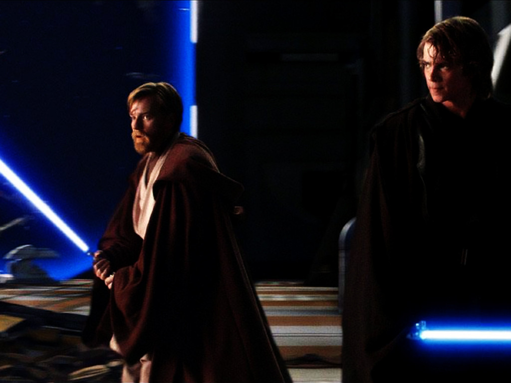 Star Wars Wallpaper: Revenge of the Sith - Anakin and Obi-Wan