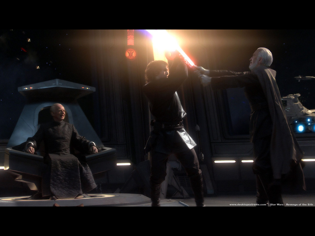 Star Wars Wallpaper: Revenge of the Sith - Anakim vs Dooku