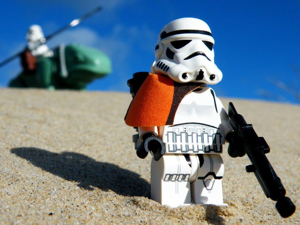 Star Wars Wallpaper: Sandtrooper - LEGO