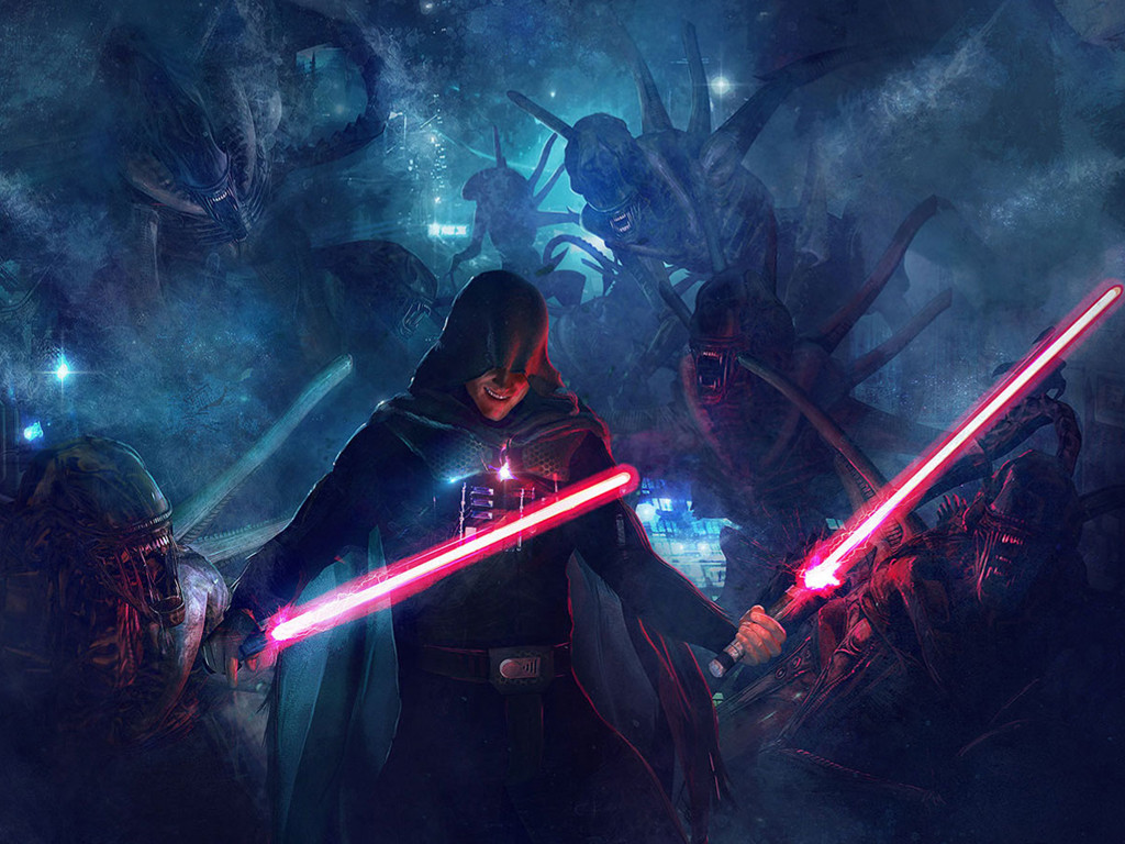Star Wars Wallpaper: Sith vs Aliens