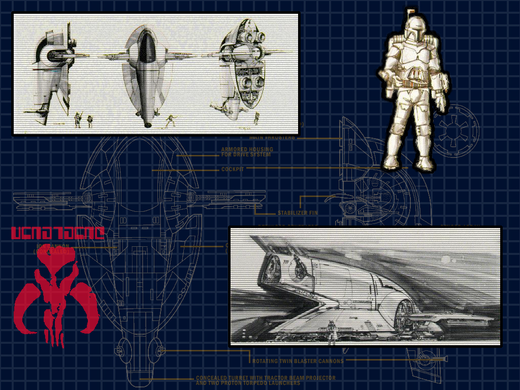 Star Wars Wallpaper: Slave 1 - Project