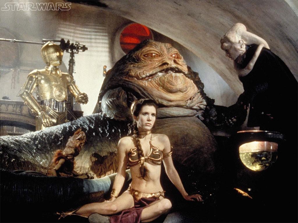 Star Wars Wallpaper: Slave Leia