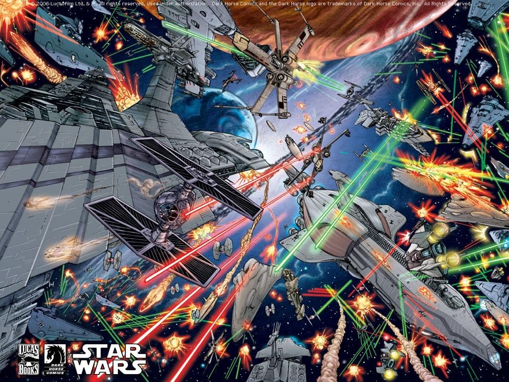 Star Wars Wallpaper: Space Battle