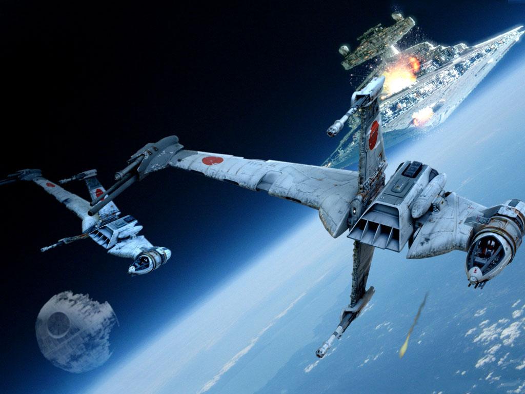 Star Wars Wallpaper: Space Battle - Endor