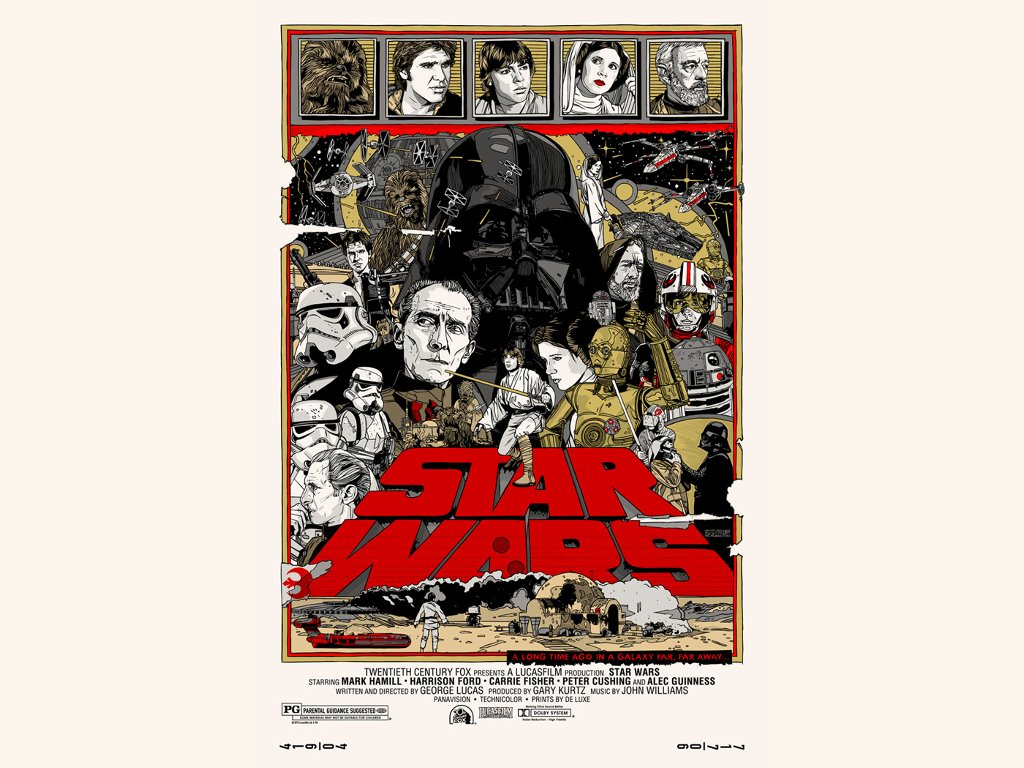 Star Wars Wallpaper: Star Wars - A New Hope (Alt Poster)