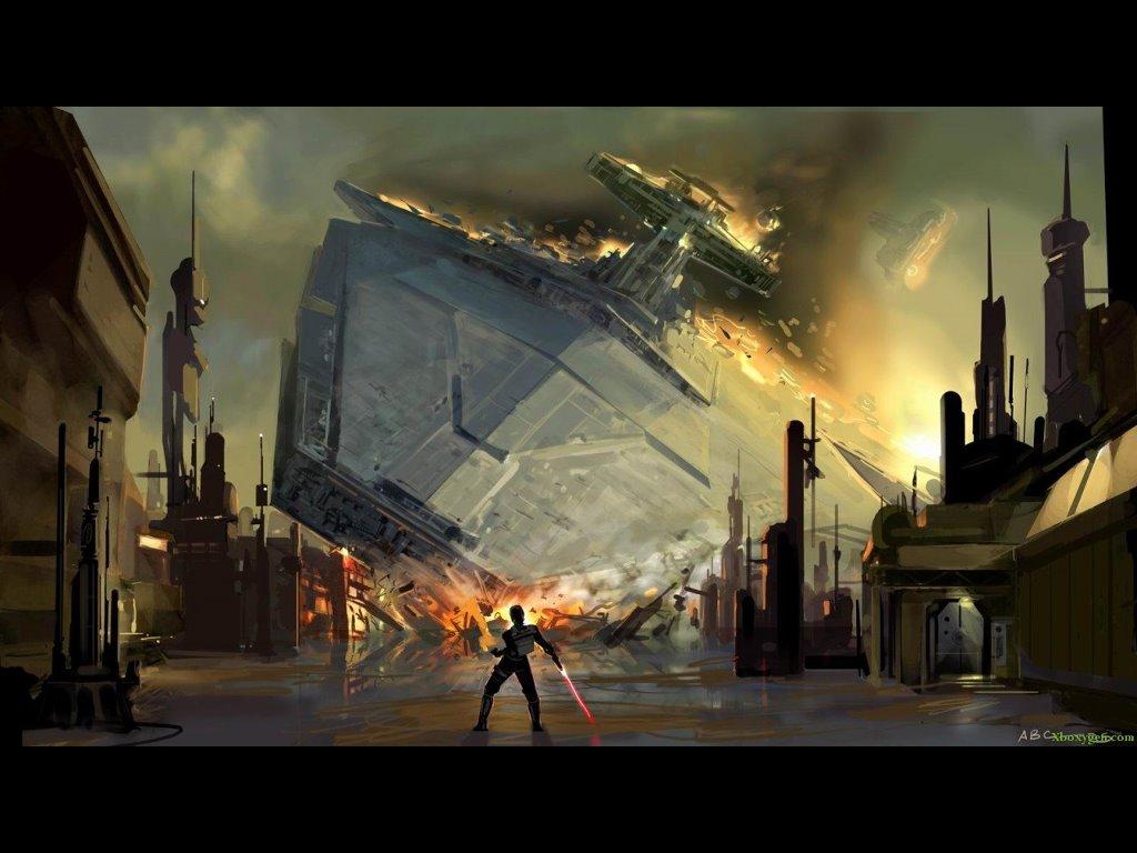 Star Wars Wallpaper: Crash and Burn
