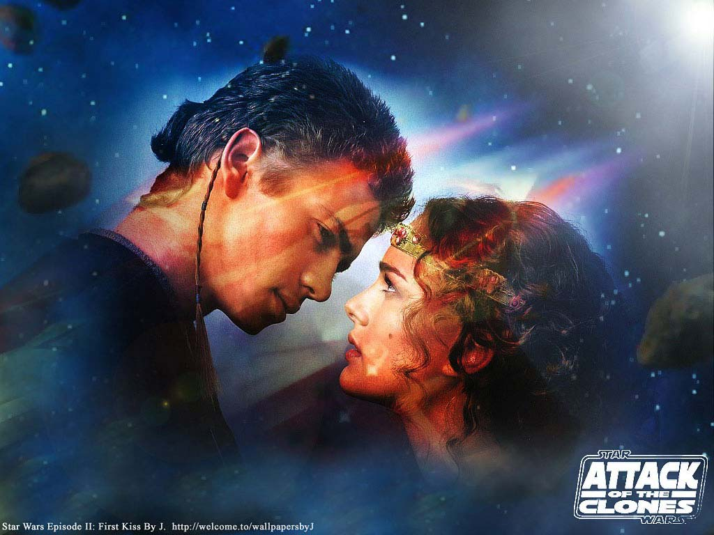 Star Wars Wallpaper: Episode II - First Kiss