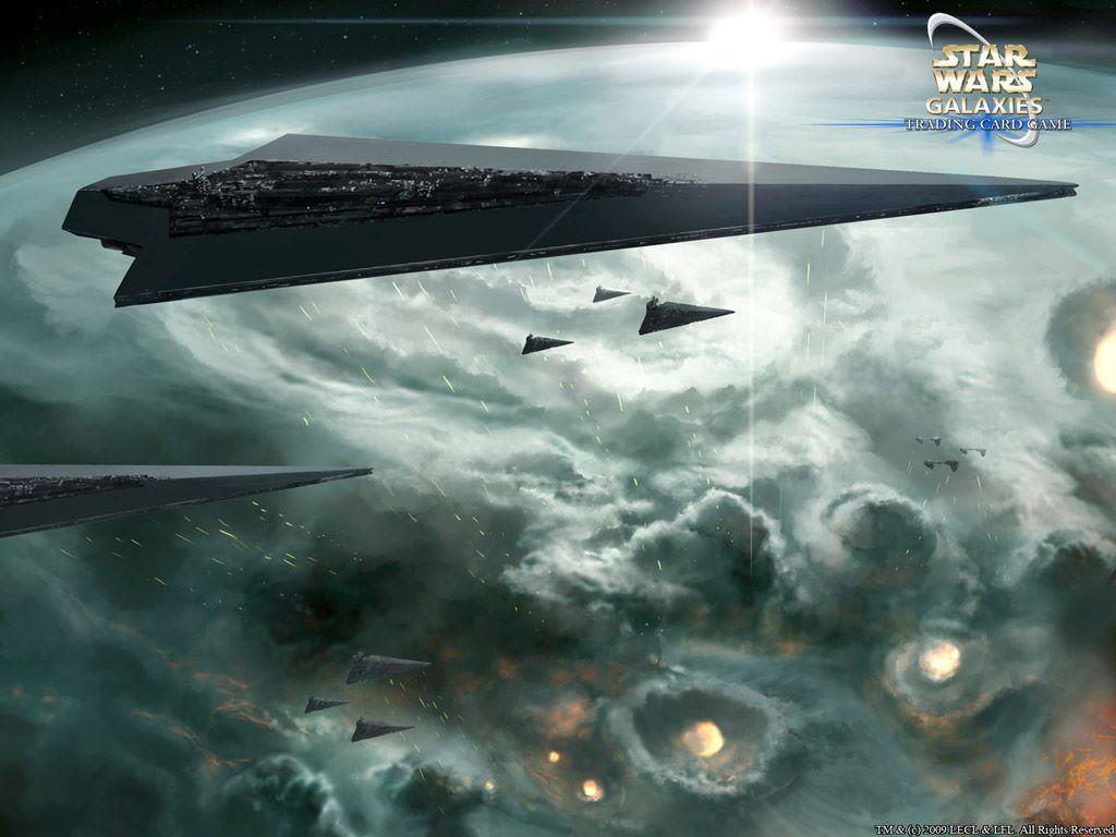 Star Wars Wallpaper: Star War Galaxies - Imperial Ships
