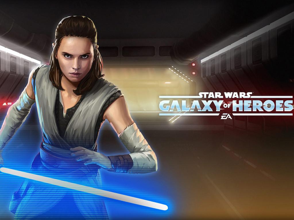 Star Wars Wallpaper: Star Wars Galaxy of Heroes - Rey