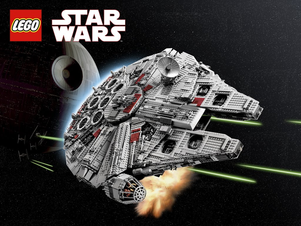 Star Wars Wallpaper: Millenium Falcon - Lego Collection