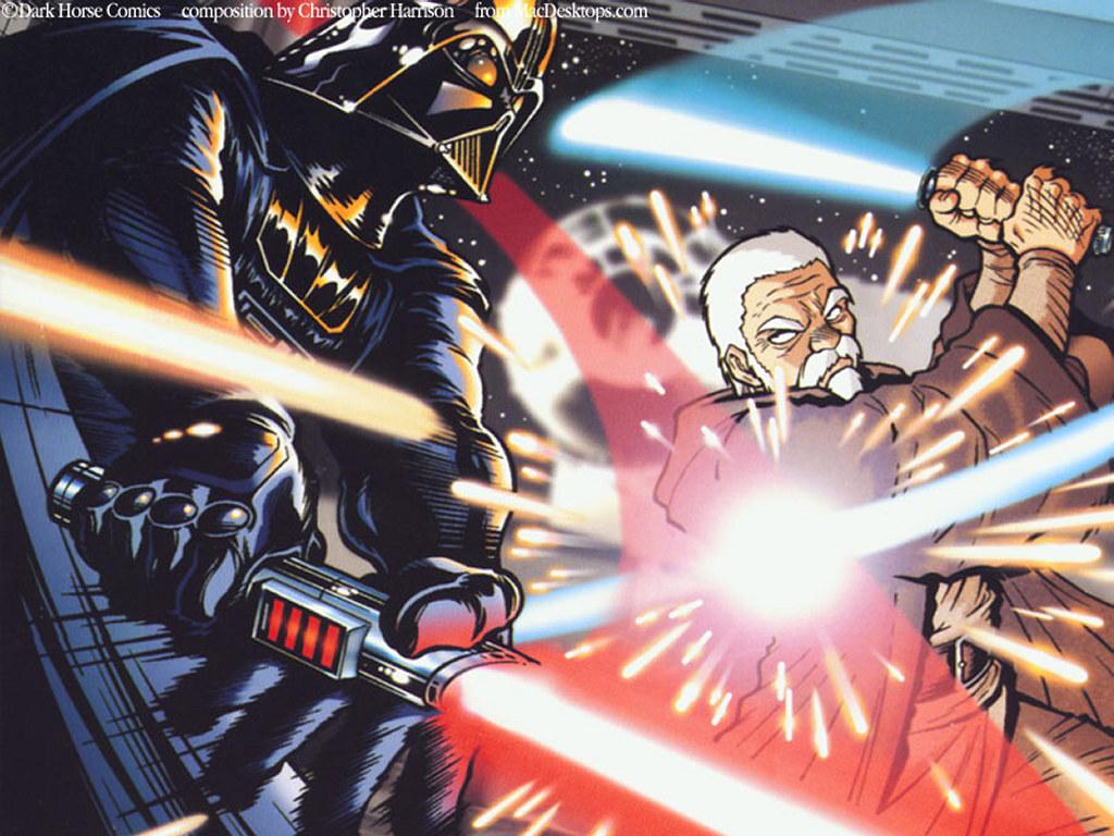 Star Wars Wallpaper: Star Wars Manga - Duel
