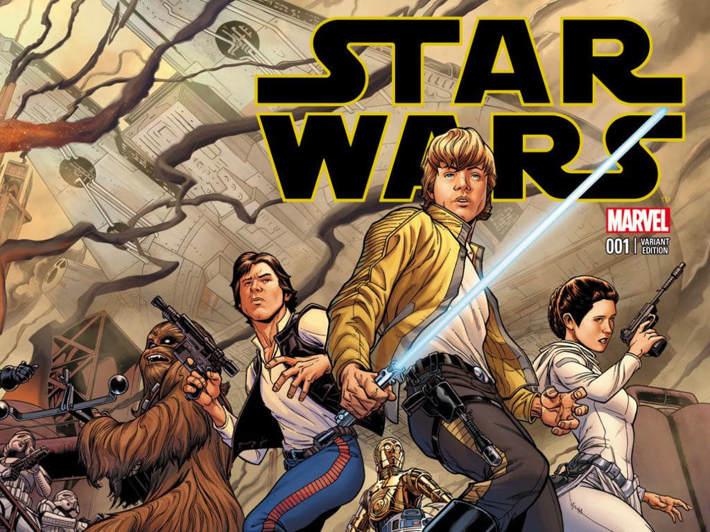 Star Wars Wallpaper: Star Wars - Marvel Cover (by Joe Quesada)