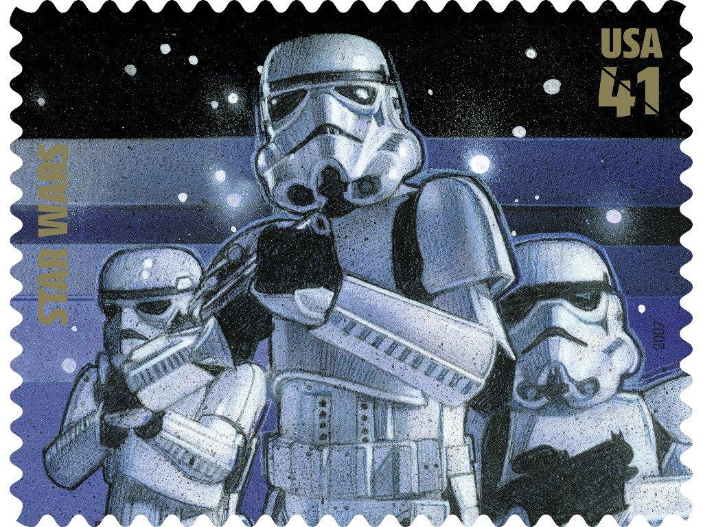 Star Wars Wallpaper: Star Wars - Postal Stamp
