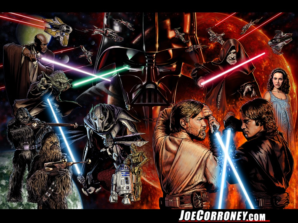 Star Wars Wallpaper: Star Wars Saga (by Joe Corroney)
