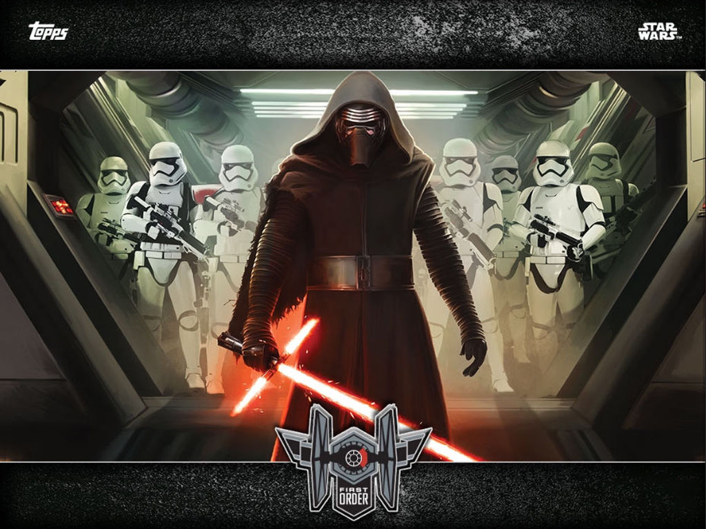 Star Wars Wallpaper: The Force Awakens - Kylo Ren and Troopers