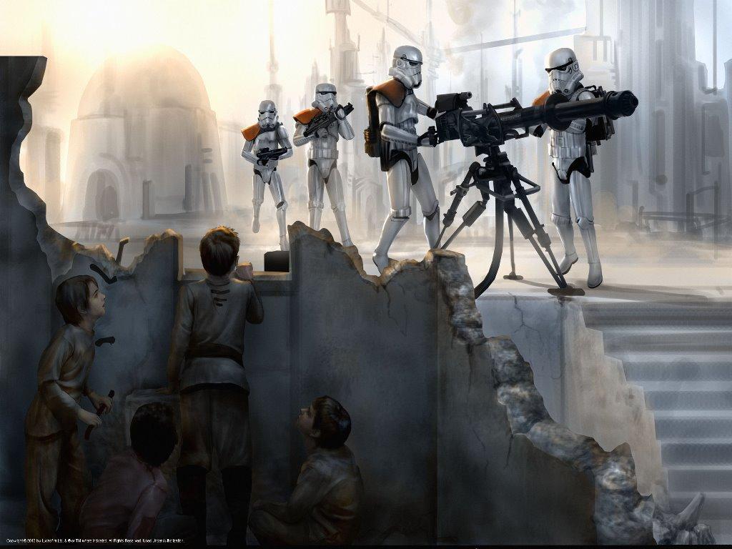 Star Wars Wallpaper: Stormtroopers - Defending Position