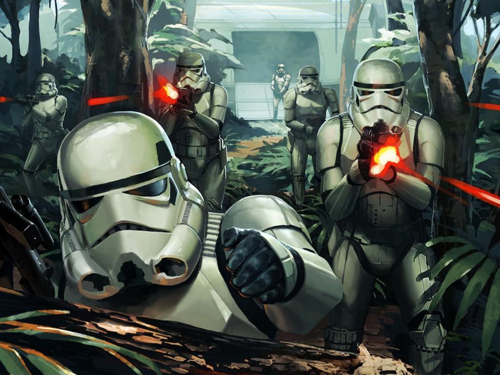 Star Wars Wallpaper: Stormtroopers - Jungle Assault