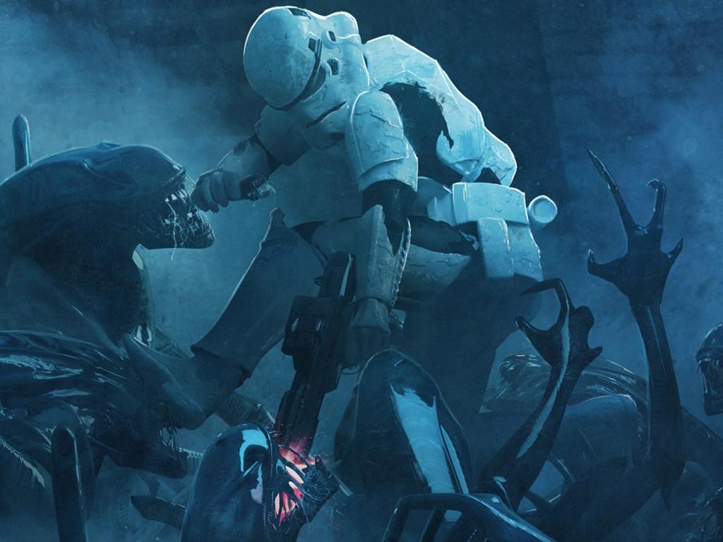 Star Wars Wallpaper: Stormtroopers vs Aliens