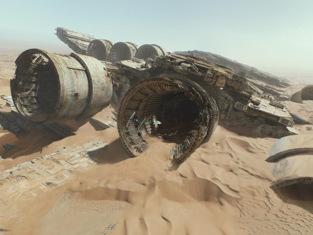 Star Wars Wallpaper: The Force Awakens - Millenium Falcon