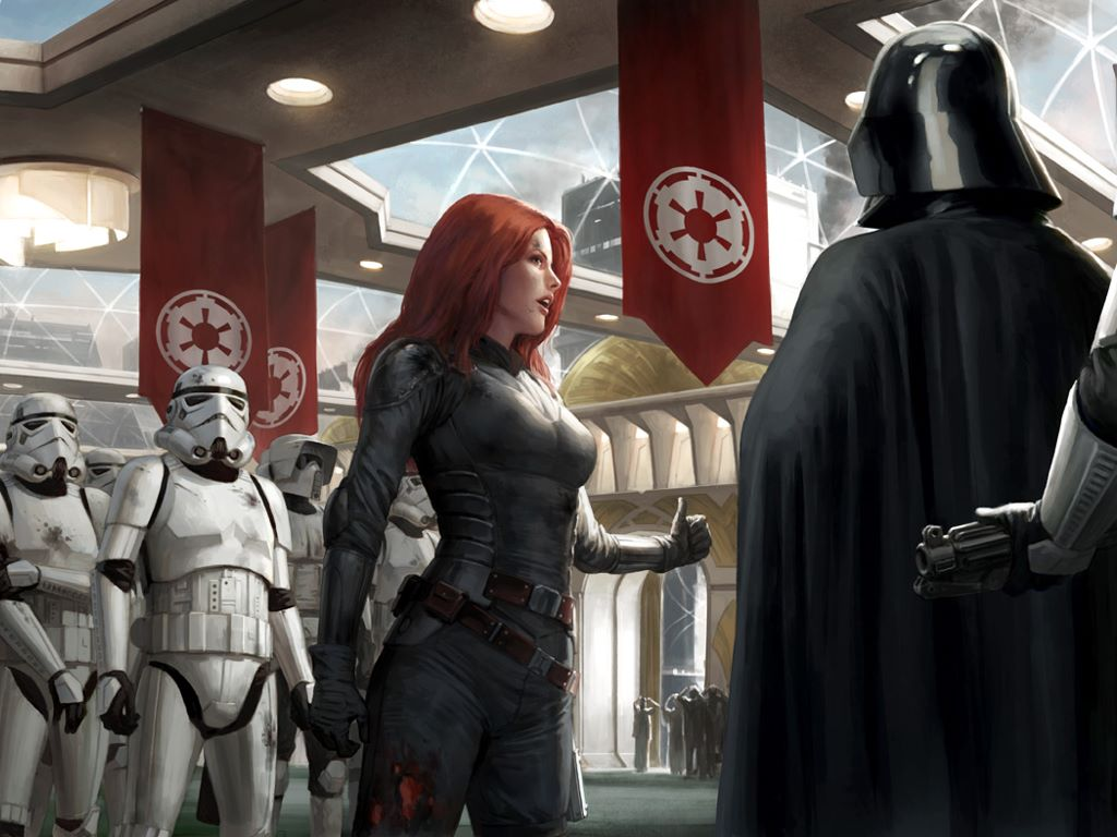 Star Wars Wallpaper: The Hand of Judgement (by Darren Tan)