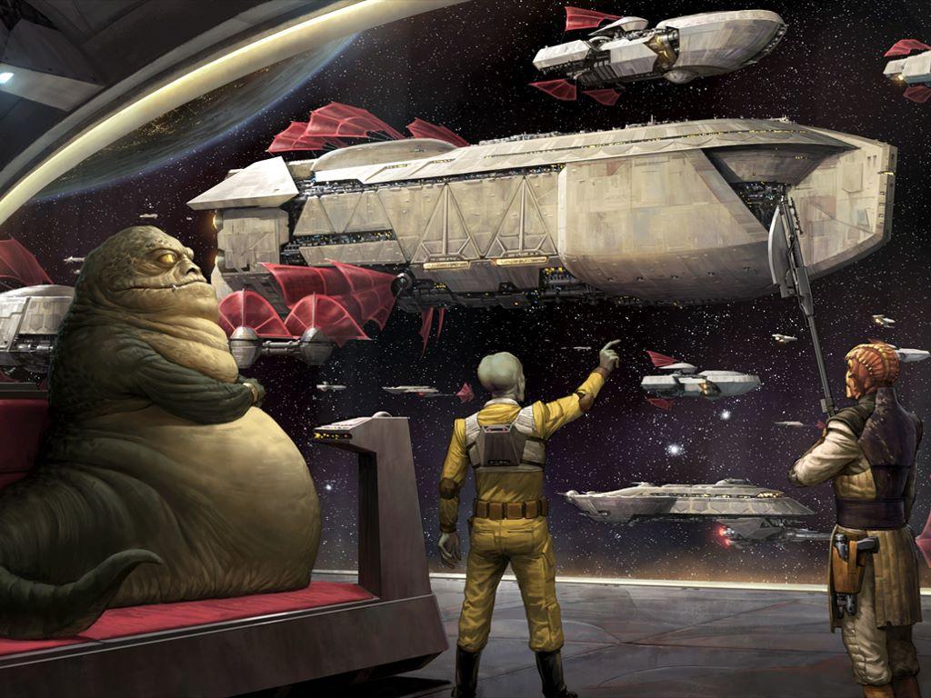 Star Wars Wallpaper: The Hutt Fleet (by Darren Tan)