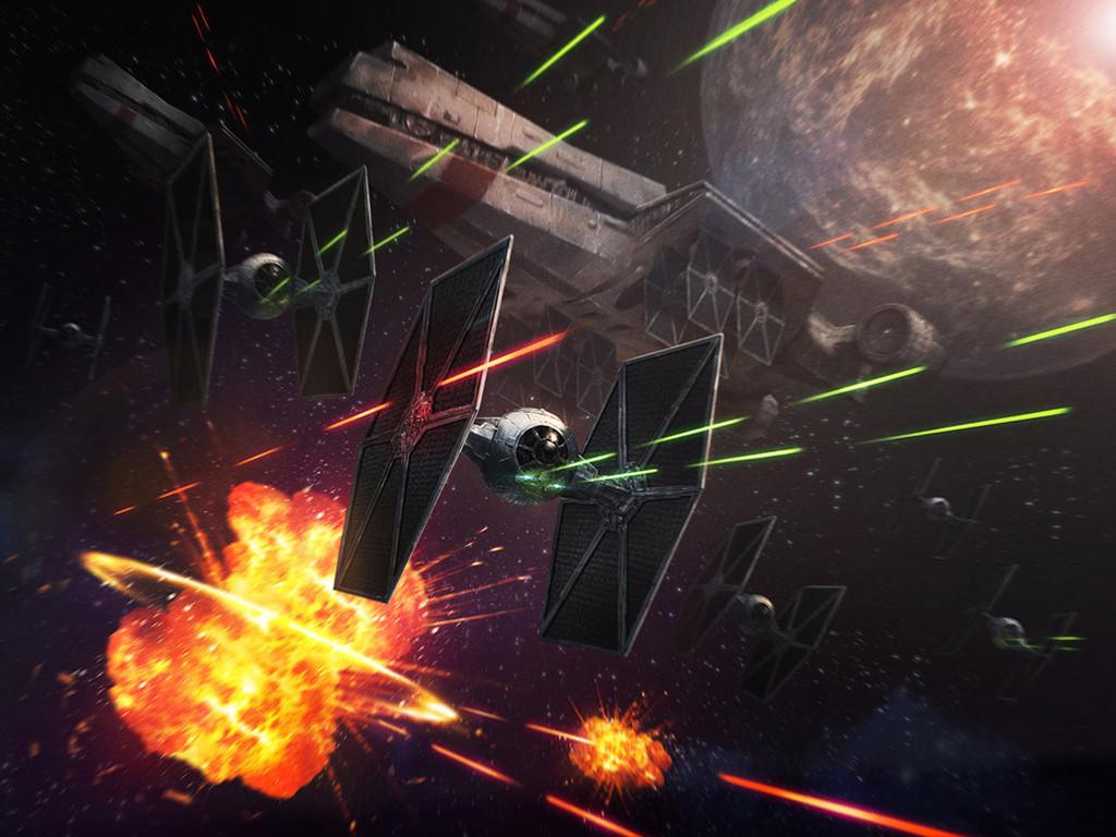 Star Wars Wallpaper: Tie Fighters